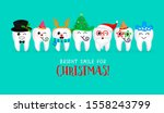 set of christmas tooth... | Shutterstock .eps vector #1558243799