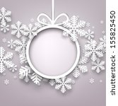 christmas snowflakes background ... | Shutterstock .eps vector #155825450