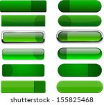 set of blank green buttons for... | Shutterstock .eps vector #155825468