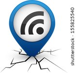 rss modern icon. vector... | Shutterstock .eps vector #155825540