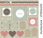 scrapbook design elements. | Shutterstock .eps vector #155826260