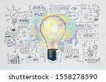 creative business sketch and...   Shutterstock . vector #1558278590