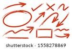 sketch arrow set. hand drawn... | Shutterstock .eps vector #1558278869