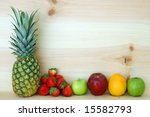 some fruits for store decoration | Shutterstock . vector #15582793