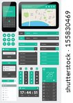 ui flat design web elements | Shutterstock . vector #155830469