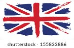 grunge uk flag. painted uk flag | Shutterstock .eps vector #155833886