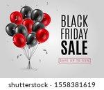black friday sale poster or web ... | Shutterstock .eps vector #1558381619