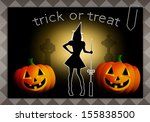trick or treat for happy... | Shutterstock . vector #155838500
