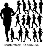 running people collection  ... | Shutterstock .eps vector #155839856