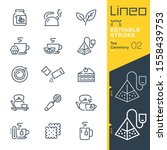 lineo editable stroke   tea... | Shutterstock .eps vector #1558439753