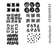 vector set of hand drawn... | Shutterstock .eps vector #1558450919