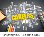 careers word cloud collage ... | Shutterstock . vector #1558454363