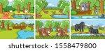 background scenes of animals in ...   Shutterstock .eps vector #1558479800