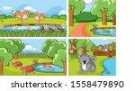 background scenes of animals in ... | Shutterstock .eps vector #1558479890