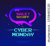 cyber monday sale poster design ... | Shutterstock .eps vector #1558483130