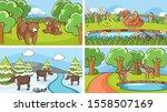 background scenes of animals in ... | Shutterstock .eps vector #1558507169