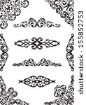 perfect classical design set... | Shutterstock . vector #155852753