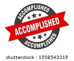 Accomplished Sticker....