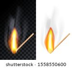 match stick burning with smoke  ...   Shutterstock .eps vector #1558550600