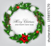 christmas party invitation card ... | Shutterstock .eps vector #1558557170