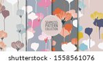 floral seamless patterns... | Shutterstock .eps vector #1558561076