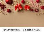 christmas  new year composition.... | Shutterstock . vector #1558567103