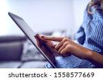 close up of caucasian woman...   Shutterstock . vector #1558577669