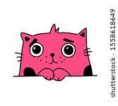 illustration of a cute kitty.... | Shutterstock . vector #1558618649