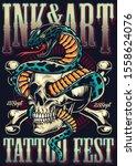 vintage tattoo fest advertising ... | Shutterstock .eps vector #1558624076