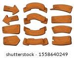 cartoon wooden signs of various ... | Shutterstock .eps vector #1558640249