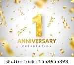 1th anniversary celebration.... | Shutterstock .eps vector #1558655393