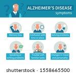 old man have alzheimer's... | Shutterstock .eps vector #1558665500