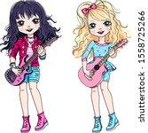 Vector Cool Rock Stars Brunette ...
