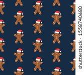 festive seamless pattern ... | Shutterstock .eps vector #1558740680