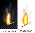 match stick burning with smoke  ...   Shutterstock .eps vector #1558782263