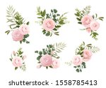 bouquets of flowers  can be... | Shutterstock .eps vector #1558785413