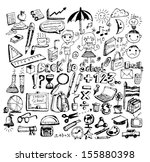 drawing school items  back to... | Shutterstock .eps vector #155880398