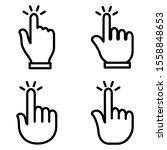click finger icon set. click...   Shutterstock .eps vector #1558848653