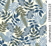 Seamless Pattern In Gray Blue...