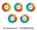 pie chart set. colorful diagram ... | Shutterstock . vector #1558860566