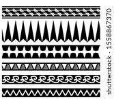 set of ethnic seamless black... | Shutterstock .eps vector #1558867370