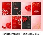 set of happy valentine's day... | Shutterstock .eps vector #1558869119