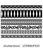 set of ethnic seamless black... | Shutterstock .eps vector #1558869533