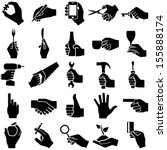Hand Icon Collection   Vector...