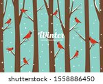 Vector Winter Illustration Wit...