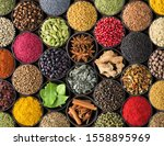 Various Spices And Herbs As A...