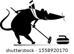 rat or mouse plays curling...   Shutterstock .eps vector #1558920170