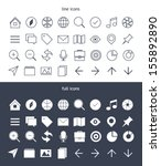 icons set for tab bar in flat... | Shutterstock .eps vector #155892890