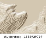 mountain hiking. map line of... | Shutterstock .eps vector #1558929719