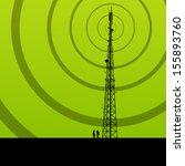 telecommunications radio tower... | Shutterstock .eps vector #155893760